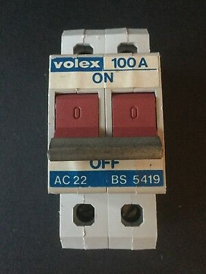 Volex 100A Double Pole Main Switch Isolator