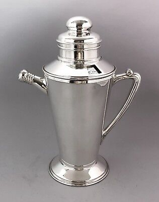 Art Deco silver plate E.G. Webster Dial-a-Drink large cocktail shaker 14 recipes