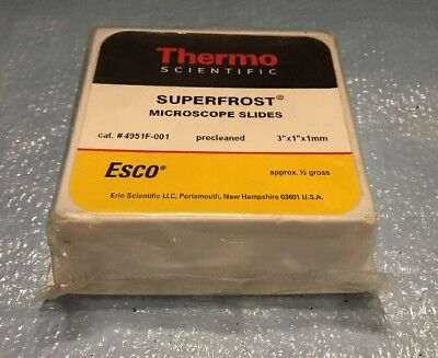 """Thermo Scientific 4951F-001 Superfrost Microscope Slides, 3"""" x 1"""" - 1 pack of 72"""