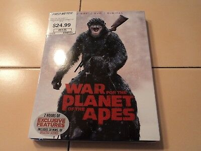 War for the Planet of the Apes Blu-ray/DVD 2017 2-Disc Set Includes Digital NEW!