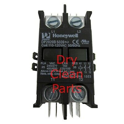 NEW Fulton Motor Starter Relay 120V 20A 2-Pole 2-40-000200 for Dry Clean Machine