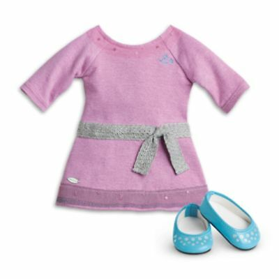 "American Girl TRULY ME LILAC DRESS for 18"" Doll Shoes Meet Outfit Purple NEW"