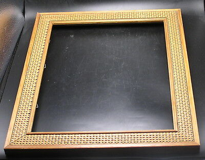 "Vintage wood and cane Picture Frame - 15.5"" x 12.5"" for 10x13 picture"