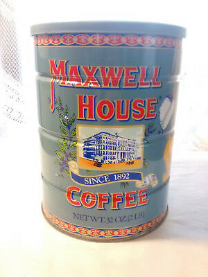 NEW & UNOPENED VINTAGE 1972 CAN / TIN MAXWELL HOUSE COFFEE 2# 80th ANNIVERSARY