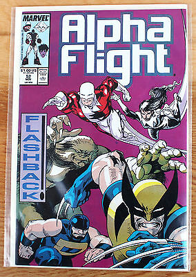 Alpha Flight #52 (Nov 1987, Marvel) Flashback!