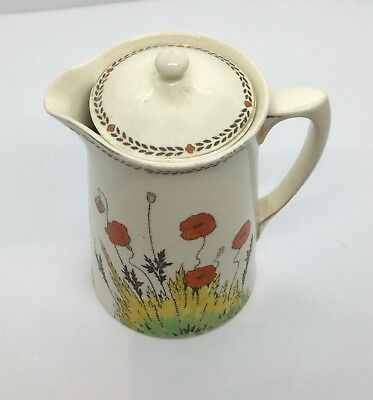 Crown Ducal Poppy Art Deco Smaller Size Lidded Water Jug