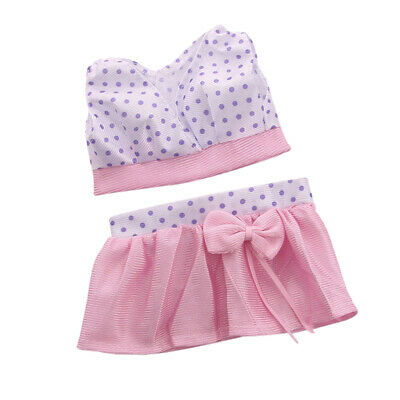"""3x 18/"""" Girl Doll Clothes Accessory Suit Set Hat Sweater Skirt for 18inch Dolls"""