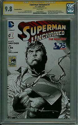 Superman Unchained 1 CGC 9.8 Convention Variant Signature Series CBCS @ERComics