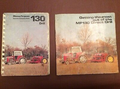 MASSEY FERGUSON 130 Operators Manual & Brochure