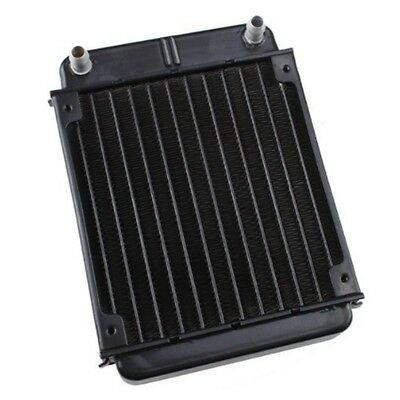 Black Aluminum Heat Exchanger Radiator For PC CPU CO2 Laser Water Cooling S D3W8