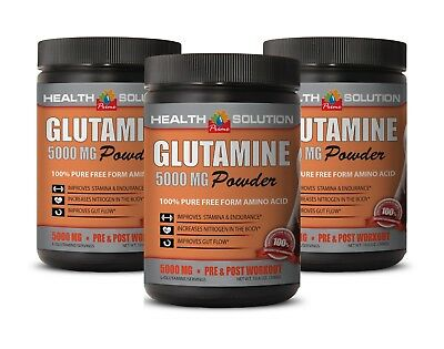 pre workout - GLUTAMINE POWDER 5000mg - muscle recovery 3B
