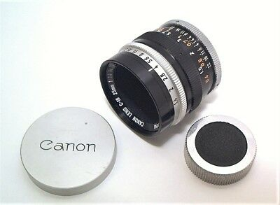 Canon C-16 25Mm 1.4 Motion Picture Lens With Caps - C Mount 16Mm Cine - Minty