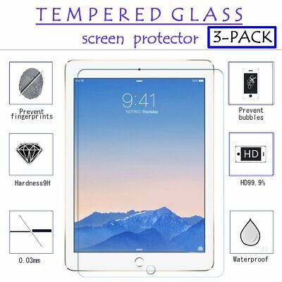 2 Pack Tempered GLASS Screen Protector For iPad 2 3 4 5 6 2018 Pro 9.7 Mini Air