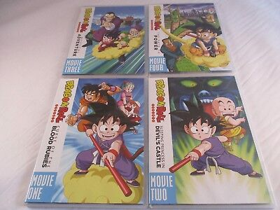 Dragon Ball: Complete Collection, Movie 4 Pack, NO BOX. 1986-96. Anime. Curse...