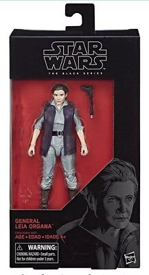 Star Wars The Black Series Episode 8 General Leia Organa 6-Inch Action Figure