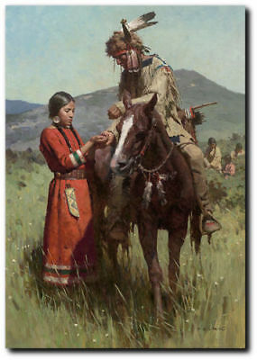 Sharing the Harvest by Z.S. Liang - NAtive People - Indian Art - Canvas