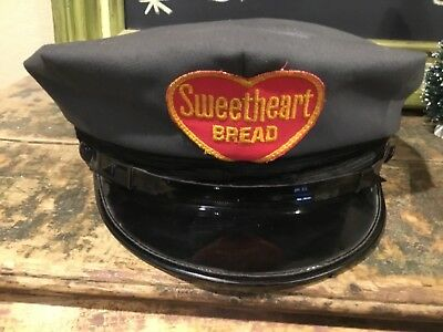 RARE Antique Vintage Sweetheart Bread Delivery Man Hat Advertising Very Early