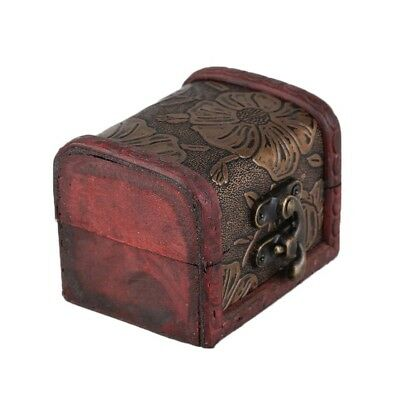Small Antique  Wooden Box Jewelry Gift Wooden Vintage Pearl Storage Case Box S