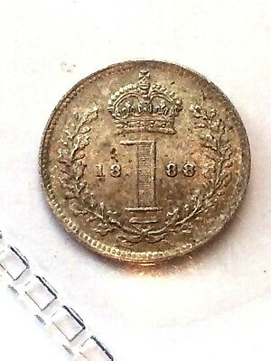 1888 Maundy G. Britain 1 Pence UNC Beautiful coin ++++ high grade