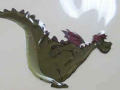 Original Handpainted Celluloid Draw Walt Disney Pete's Dragon Elliot Rare Prop