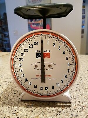 Vintage Hanson Model 2000 Household Kitchen Utility Scale 25 Lb Capacity Antique