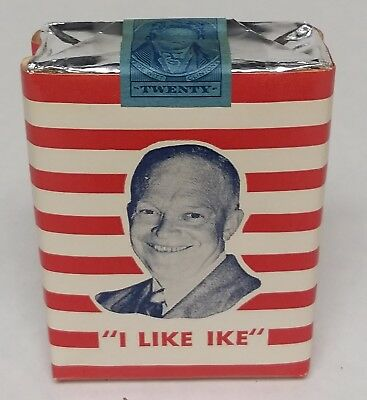 """1952 ( series 122 ) Unopened 20 count, """"I Like Ike"""" Cigarettes."""