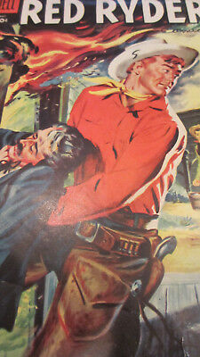 Red Ryder and The Rainmaker #142 Fred Harman Western Dell Comic Book May 1955