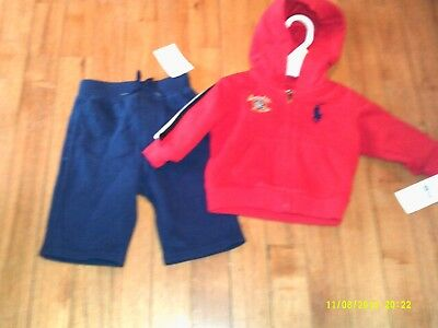 NWT Boys Ralph Lauren size 3months hooded jacket and pants outfit