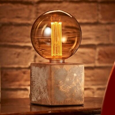 Auraglow Modern Contemporary Bronzed Effect Stone Cube Table and Desk Lamp