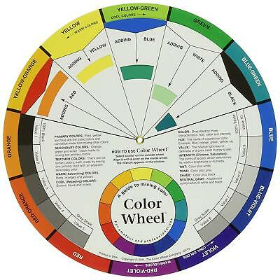 """NEW Color Wheel Mixing Guide 9 1/4"""" for Amateur and Professional Use USA Seller"""