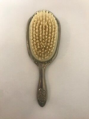 Vintage Style Silver Plated Ornate Hair Brush