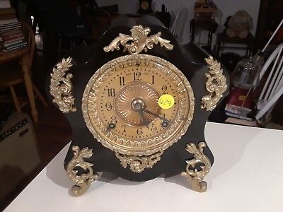 Working Antique Ansonia Clock Co Mantle Clock New York USA Made