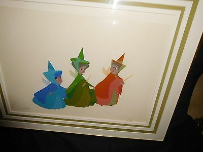 "Disney Cel Sleeping Beauty ""The 3 Fairies"""