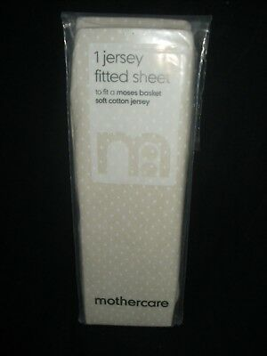 Mothercare Jersey Fitted Sheet to fit Moses Basket, new and sealed Polka Dots