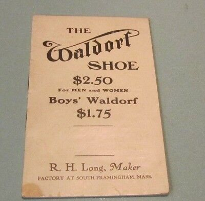 Antique Waldorf Shoe Catalog R.H. Long Maker South Framingham Massachusetts 16pg