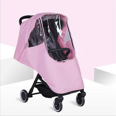Quality Universal Buggy Pushchair Stroller Pram Transparent Rain Cover Baby G