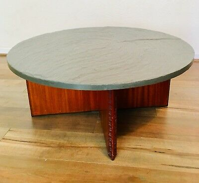 Frank Lloyd Wright Taliesin Coffee Table By Henredon 1955 Slate Top Mid Century