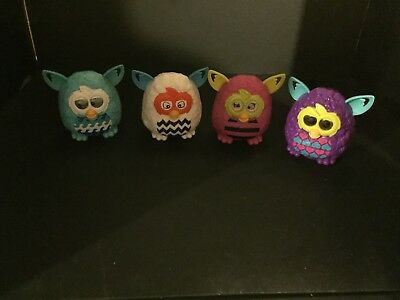 Lot of 4 2013 Hasbro McDonalds Happy Meal Rocking Laughing Furby Toy