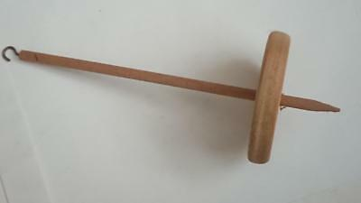 Wooden Drop Spindle 30cm long with hook and slot - Wool / Yarn Spinning