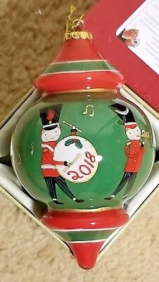 2018 Li Bien Hand Painted Glass Ornament Soldier Band Pier 1 Online Collection