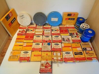 Lot of 67 Reels Vintage Early 60's Mid 70's 8 MM & Super 8 Color Home Movies