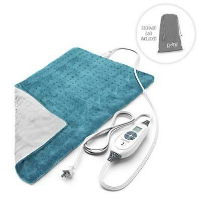 Pure Enrichment PureRelief XL King Size Heating Pad Turquoise Blue Opened box