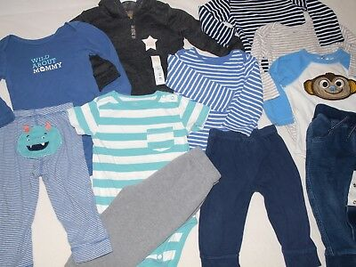 Baby Toddler Boys 18 Months Clothing Bundle Lot Winter Pants Long Sleeve Tops