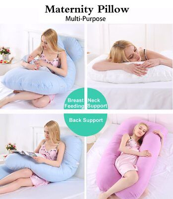 AU Maternity Pillow Pregnancy Nursing Sleeping Body Support Feeding Boyfriend Z0