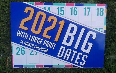 Large Print 2019 Calendar With Extra Large Date Numbers Paperback Biscay