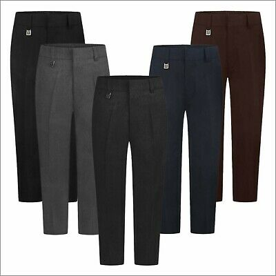 Zeco New School Uniform Trousers Sturdy Fit Boys Schoolwear Pants 4/5 to 16/17