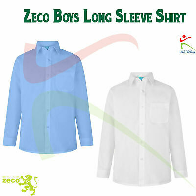 "Zeco Uniform New 2 Pack School Uniform Boys Full Sleeve Shirt Sizes 11"" - 17.5"""