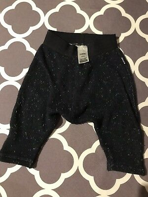 Bonds Baby Knit Legging Black And White Flecks Size 00 (3-6 Months)