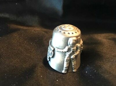 Thimble Pewter Houston Space Center  Souvenir_C3 Texas Astronaut Spaceship