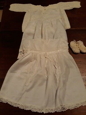 Vintage Boy's Christening Outfit. Still white, about 40 years old. Free T Post